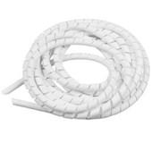 5 metros de Organizador de Fios Espiral Branco 1/2 - Cód.7390