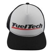 Boné Fueltech Trucker Preto/Branco - Cód.5626