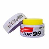Cera Soft99 White Wax Cleaner com Carnaúba p/ carros claros - Cód.5735