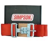 Cinto de Segurança Simpson 5 pontas Latch Vermelho 29073 - Cód.1186