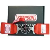 Cinto de Segurança Simpson 5 pontas Vermelho 29102 - Cód.1189