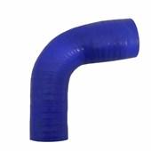 """Curva de Silicone Azul 90° Pressurização 2 1/4"""" x 2"""" - Cód. 566"""