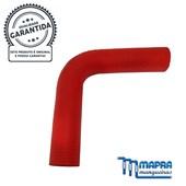 "Curva Longa Tipo L de Silicone Vermelha 90º X 2 1/2"" - Cód.247"