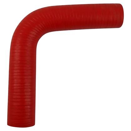 """Curva Tipo L de Silicone Vermelho para Pressurização 90º X 2.0"""" - Cód.1497"""