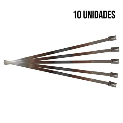 Kit 10 Abraçadeiras Zip Tie Inox 200mm - Cód.6888
