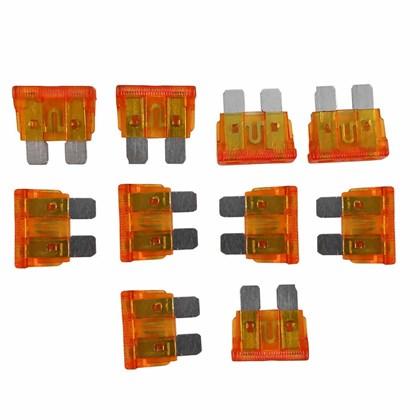 Kit com 10 Fusíveis Lamina Laranja 40A - Cód.6745