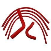 Kit Mangueiras de Arrefecimento em Silicone Vermelha GM Opala 4cc - Cód.1376