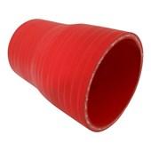 """Mangote de Silicone Vermelho Redução 3"""" x 2 1/2"""" x 112mm - Cód.781"""