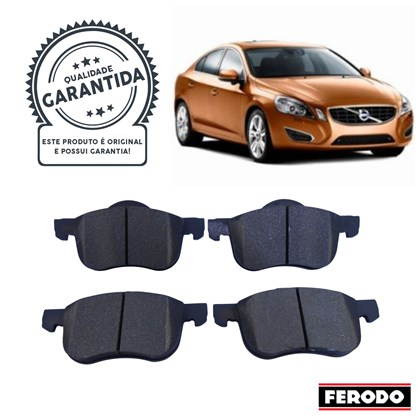 Pastilha de Freio Diant. Ferodo HQF4064 (Volvo S60 / S80 / V70 / XC70) - Cód.3970